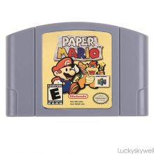 Paper Mario N64 US Version Nintendo 64 NTSC Game Card ( Tested & Works)