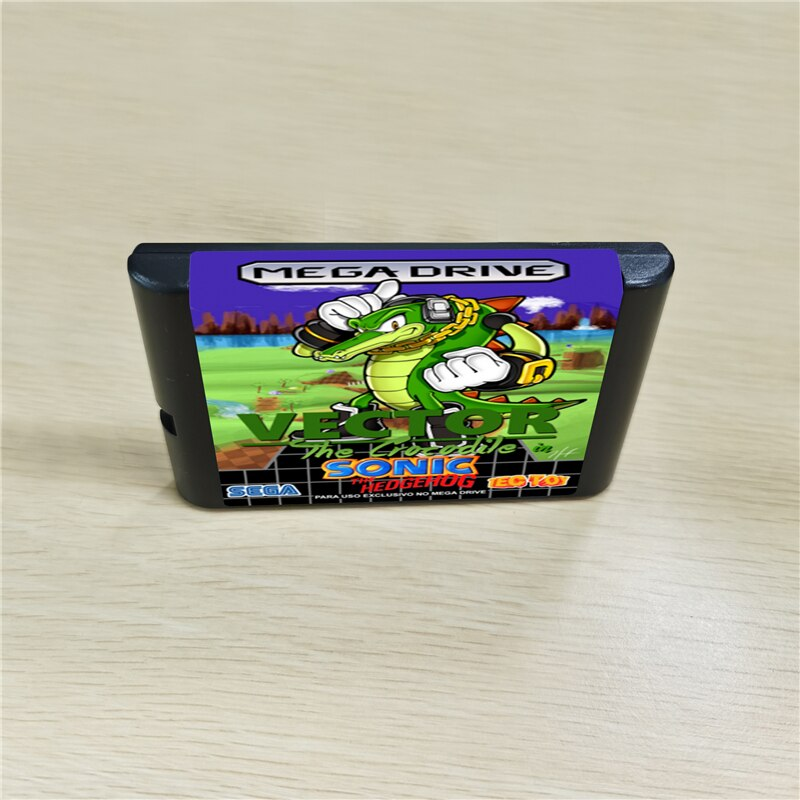16bit Cartridge Game Card For Sega Genesis Mega Drive Md Console The Vector In Sonic The Hedgehog